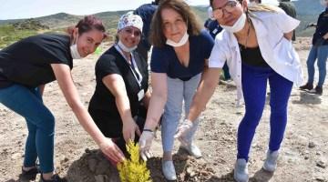 İzmirde Sağlık Çalışanlarının Adına Hatıra Ormanı Oluşturuldu