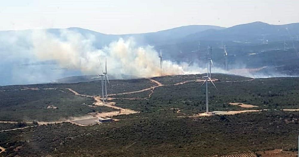 İzmir Seferihisarda Çıkan Orman Yangını Kısmen Kontrol Altında