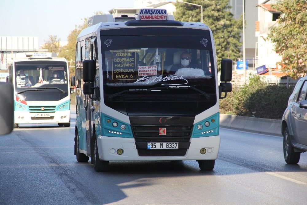 Vakaların Arttığı İzmirde Toplu Taşıma Araçlarında Korona Virüs Denetimi
