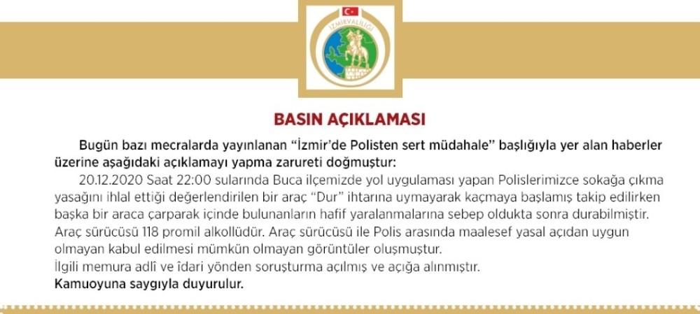 İzmir Valiliğinden Polis Tarafından Vatandaşa Darp İddialarına Yönelik Açıklama