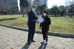 Pandemi Polikliniklerinde Çalışan Tıbbi Sekreterlere Teşekkür Belgesi Verildi
