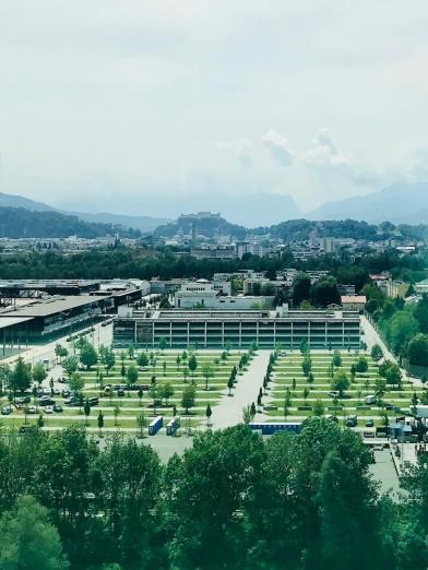 Salzburg Von Oben Blick Auf Die Stadt Salzburg