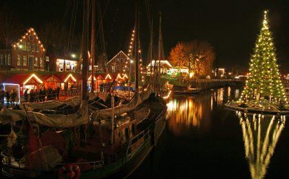Im Advent und zum Weihnachtsfest zeigt sich das Nordseebad Carolinensiel-Harlesiel in Ostfriesland von seiner romantischen Seite.