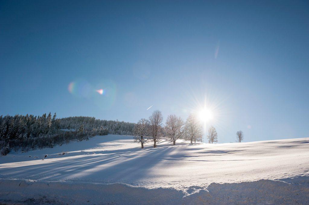 Das Winterwunderland rund um Werfenweng lädt zu ausgiebigen Spaziergängen ein - Winterwandern in Österreich