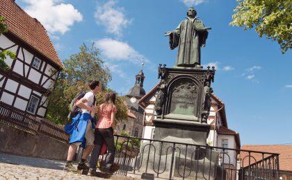 Lutherdenkmal in der Wartburgregion um Eisenach