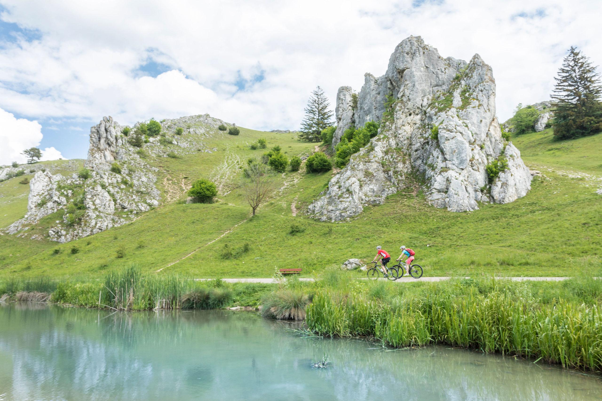 Eselsburger Tal auf der Albtäler-Radtour