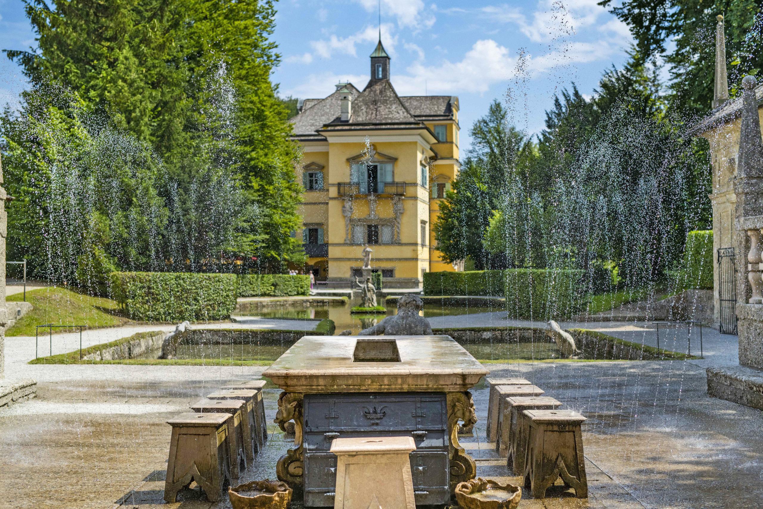 Wasserspiele am Rande der Mozartstadt