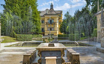 Brunnen im Park von Schloss Hellbrunn