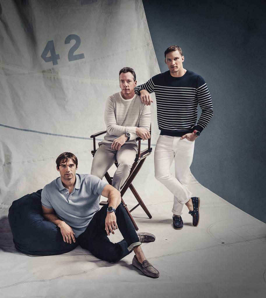 Tre menn med Garmin Marq-klokker