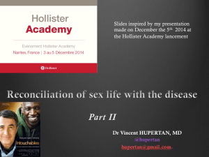 Reconciliation of the sex life with the disease by HUPERTAN Part II Reconciliation of the sex life with the disease by HUPERTAN Part II