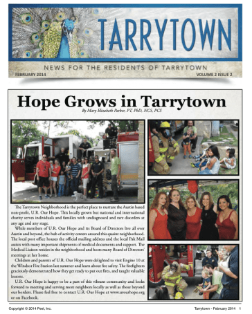 Tarrytown U.R. Our Hope Article