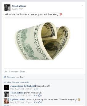 Fundraiser dollar heart