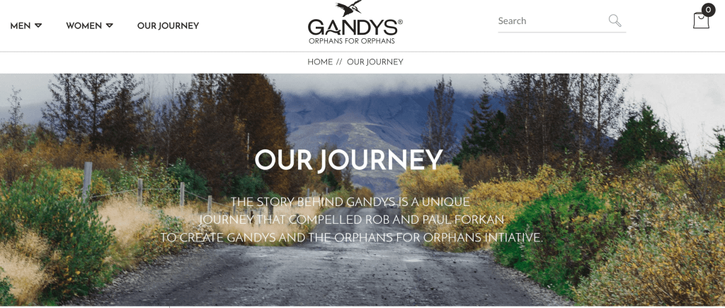 examples of brand stories gandys
