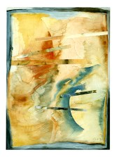 Ursula Kolbe 1990-1999 Watercolour Collages 'Threads VII'. Watercolour on paper