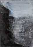 """""""Forbidding Landscape"""" Gouache, ink on Arches 21cm x 14cm"""
