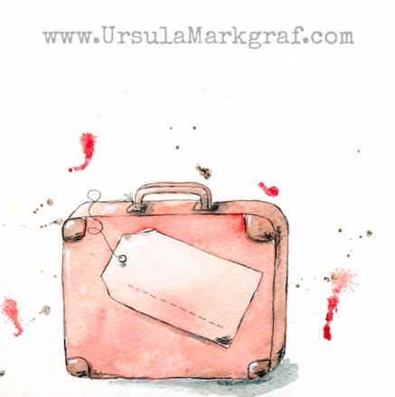 Suitcase - water color