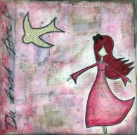"""""""You are free"""" - originale sold, available as artprint"""