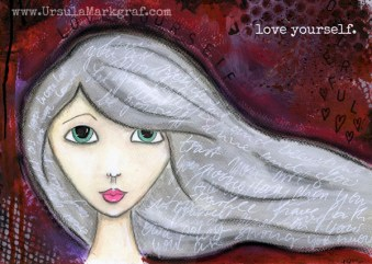 """""""Love yourself"""" - Art print available in the SHOP"""