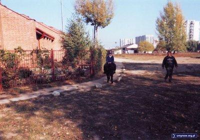 Przejażdżka na tyłach kościoła Św. Tomasza. W tle stoi jeszcze kaplica niedaleko wyjścia z metra. Fot. Magda Cendrowska