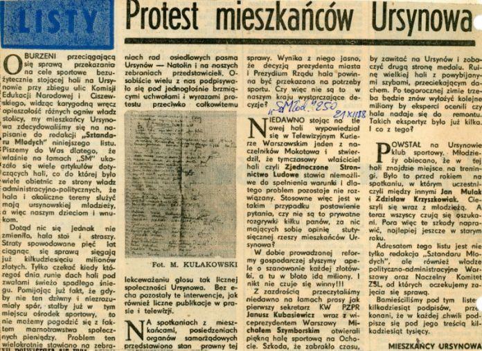 Sztandar Młodych z 21 grudnia 1988. List do redakcji piszą