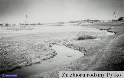 Potok Służewiecki wije się wzdłuż pól. Zdjęcie ze zbiorów Rodziny Pytko.