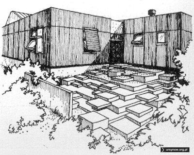 """Taras do lekcji plenerowych. Propozycja dla szkoły podstawowej. """"Architektura"""", 1975"""