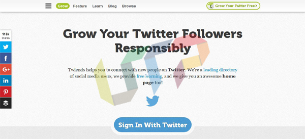 Grow your Twitter followers Responsibly with Twiends