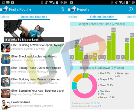 JEFIT Workout Tracker Gym Log Best Android FItness App