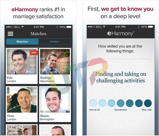 online dating apps eharmony