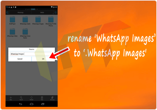 Hide Whatsapp Images from Gallery Successfully