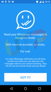 read whatsapp messages without opening app