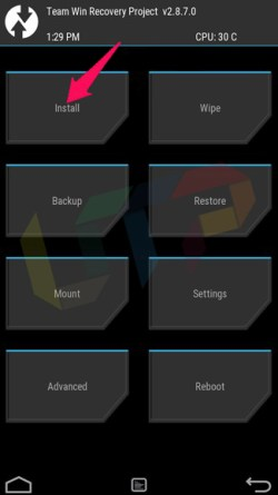 how to install custom rom on android without computer