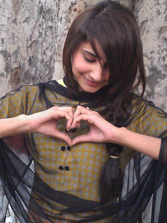 Girls Facbook DPs with Heart