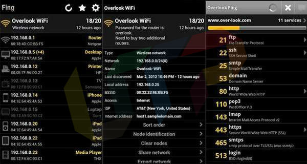 hack wifi with the help of Fing network tools