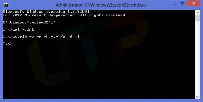 Shortcut Virus Removal