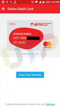 Fake Debit Card