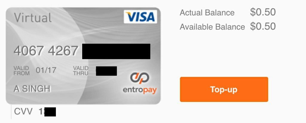 Free Online Virtual Card