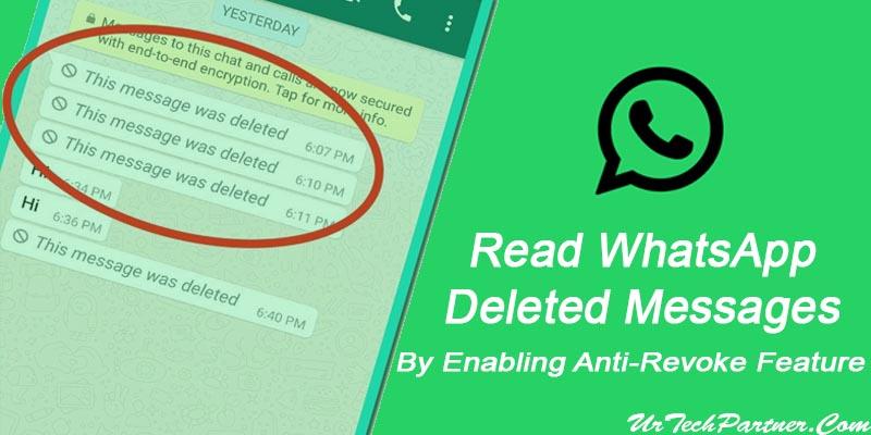 Enable Anti-revoke Feature in WhatsApp