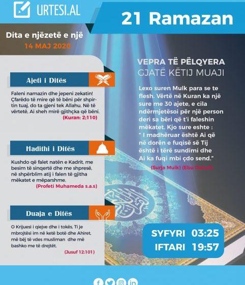 Dita e njëzetë e një e Ramazanit
