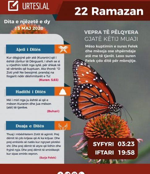 Dita e njëzetë e dy e Ramazanit