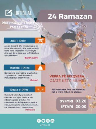Dita e njëzetë e katërt e Ramazanit