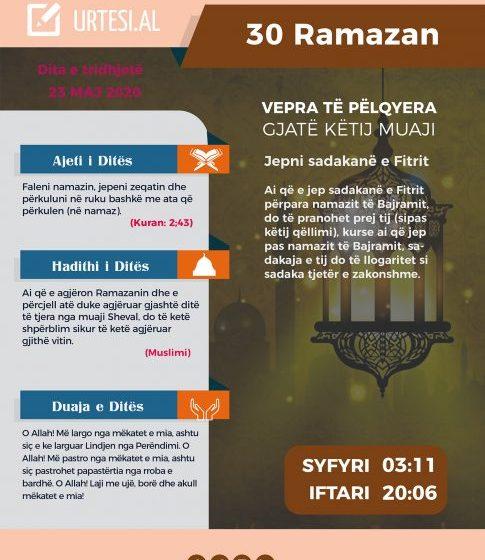Dita e tridhjetë e Ramazanit