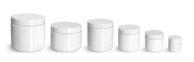 maki menjual toples plastik berwarna putih polos cocok digunakan untuk kosmetik