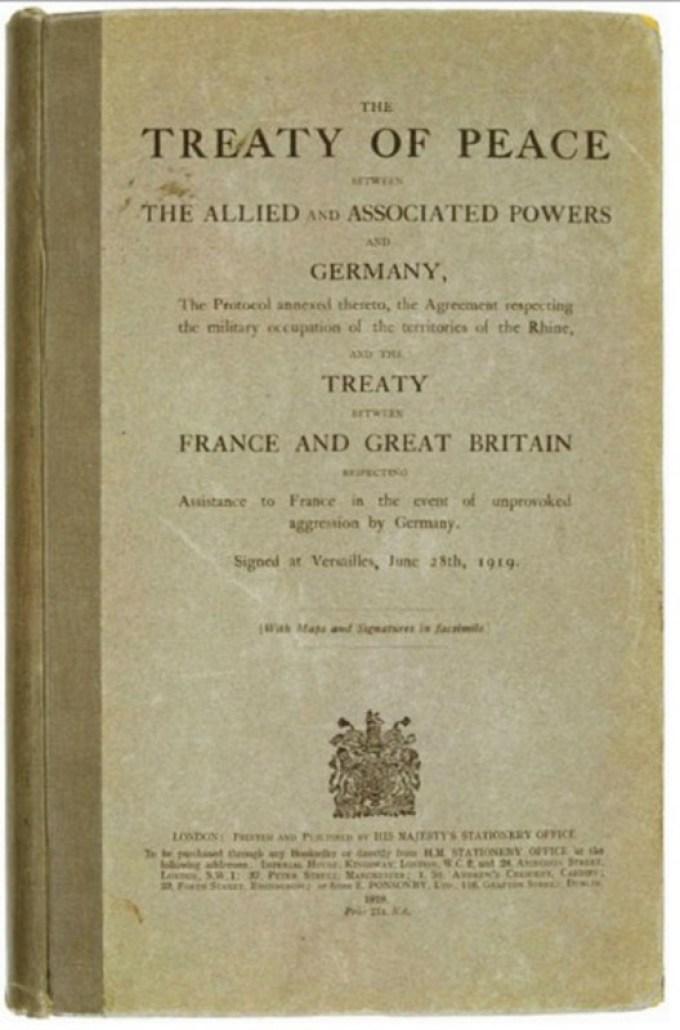 perjanjian versailles ini ditanda tangani pada naskah ini
