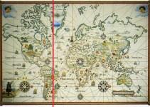 peta ini merupakan hasil dari perjanjian tordesillas