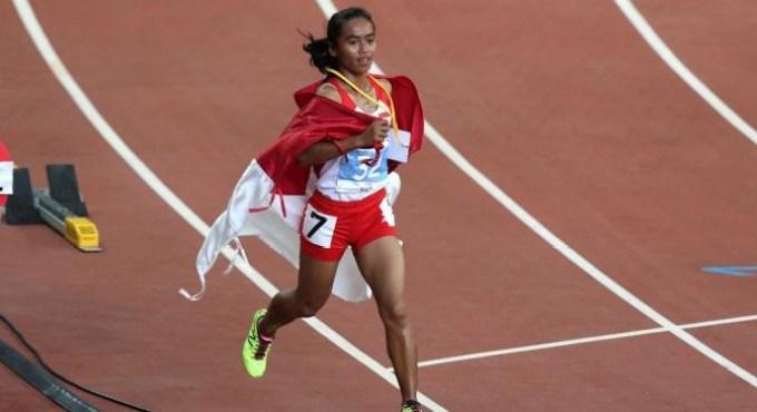 catatan waktu rekor lari dari atlet lari indonesia ini 16 menit 18 detik