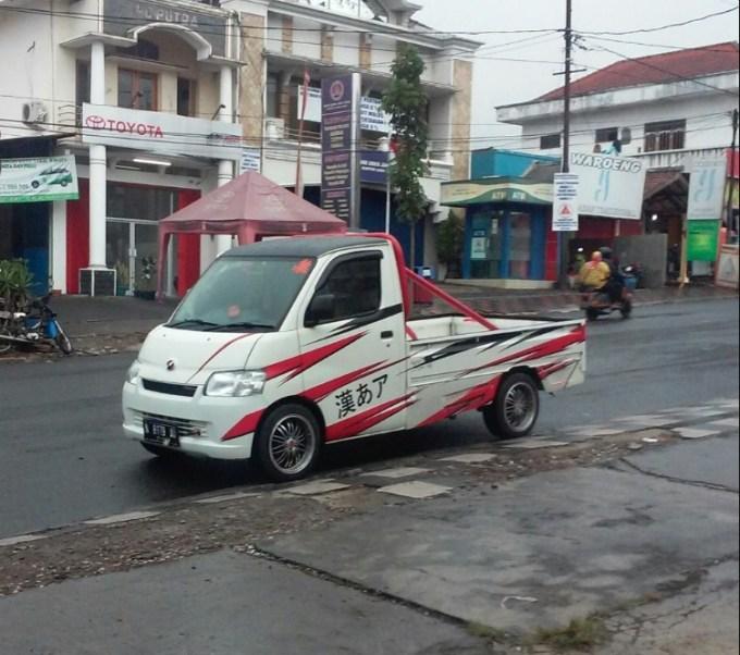 modifikasi mobil pick up grand max ceper taft badak