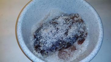 Det saltade köttet, första dagen