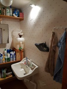 "Dörrbelysning på ""toaletten"""