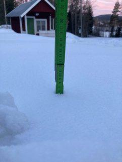 76 cm snödjup
